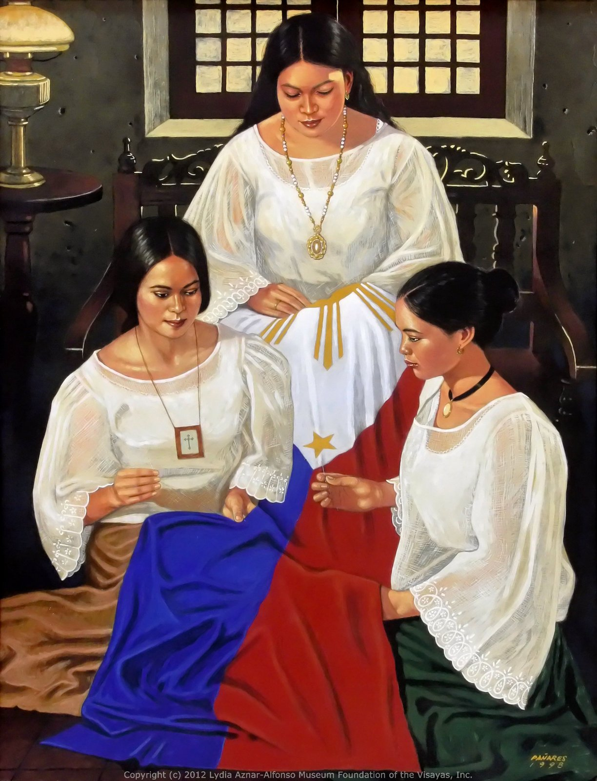 114th independence day lydia aznar alfonso museum foundation of three women mauricia gahuman buena ricardo and justina pena made the philippine flag in cebu as the symbol of nationhood for the cebu katipuneros buycottarizona Images