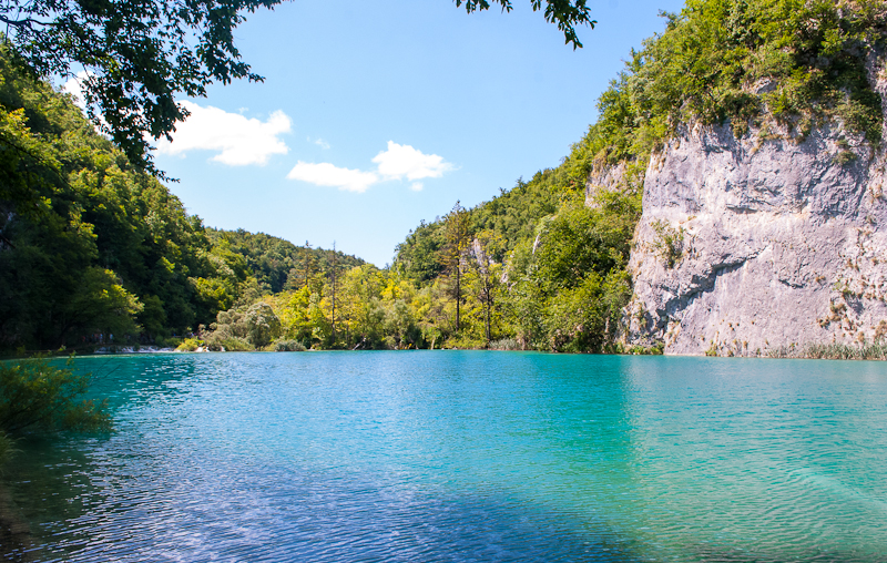 picture of one of the lakes at Plitvice Lakes National Park