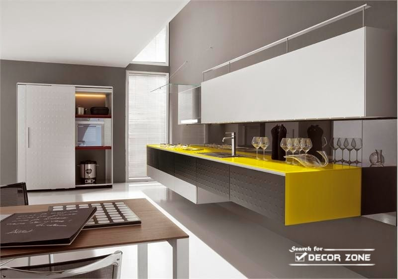 15 yellow kitchen decor ideas designs and tips for Grey yellow kitchen ideas