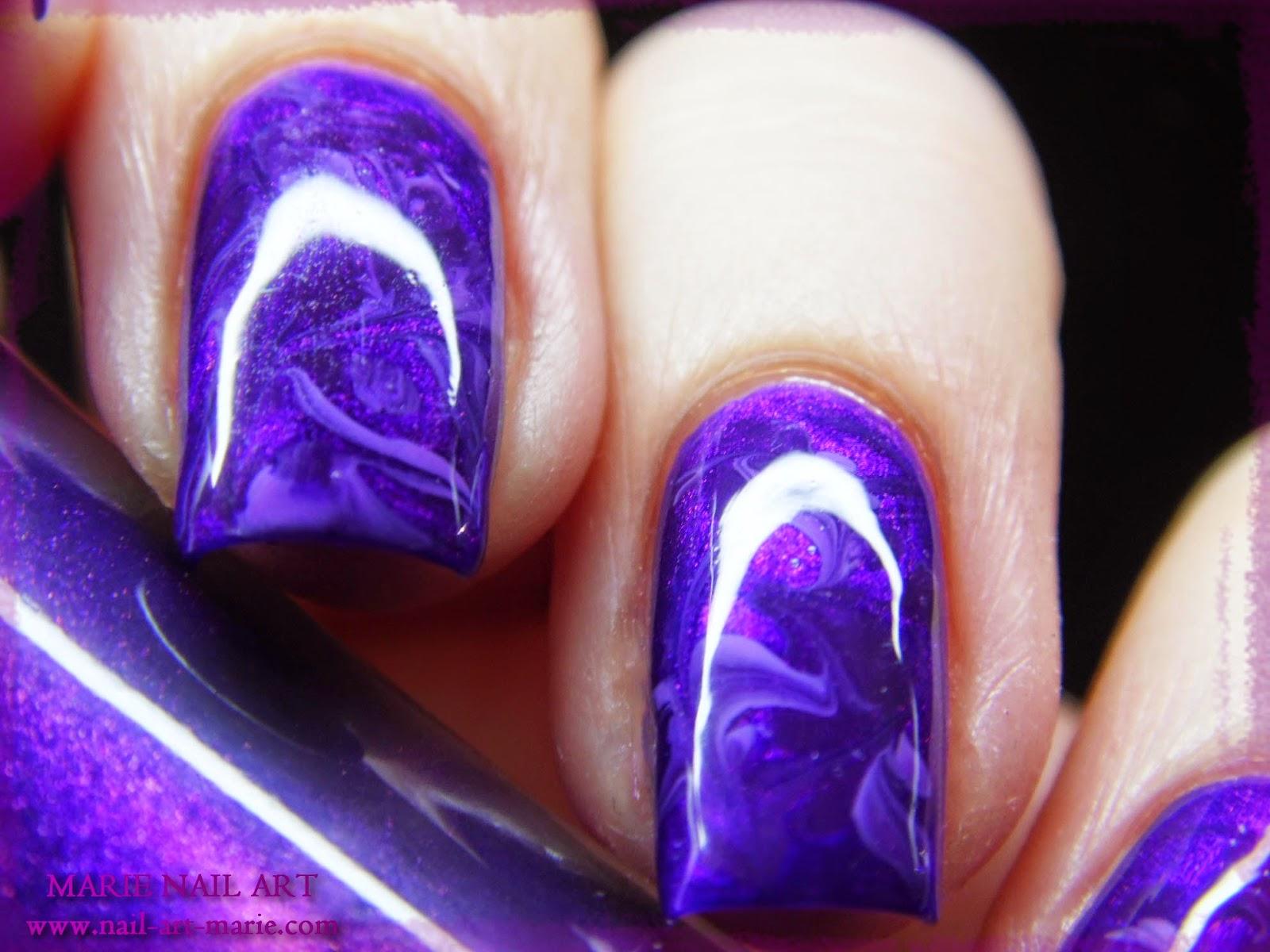 nail art effet améthyste6