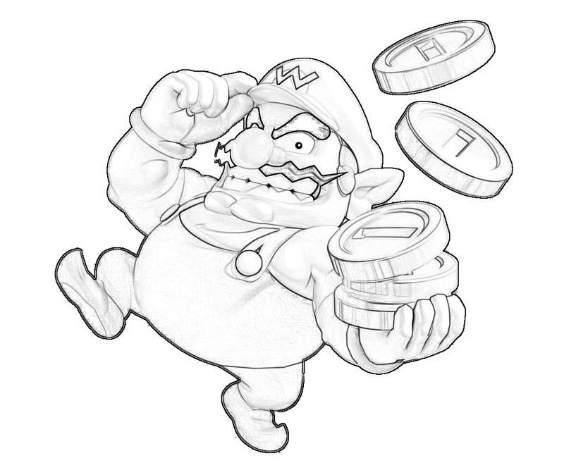 wario coloring pages - photo#22
