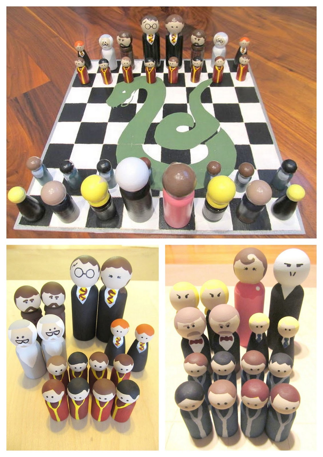 Make A Supremely Sweet Harry Potter Chess Set With Bag And