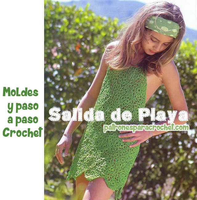 Vestido para ir a la playa ~ Moldes y Paso a Paso Crochet | Patrones ...