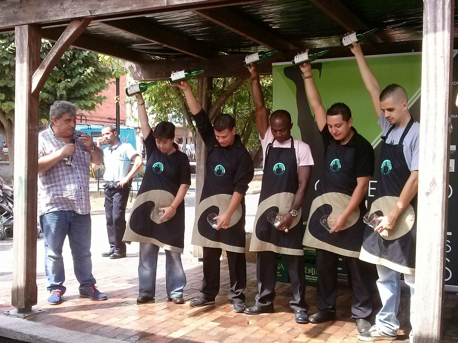 campeonato escanciadores sidra asturias candas