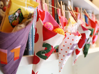fabric cones advent calendar tutorial