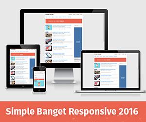 Simple Banget Responsive Blogger Template 2016