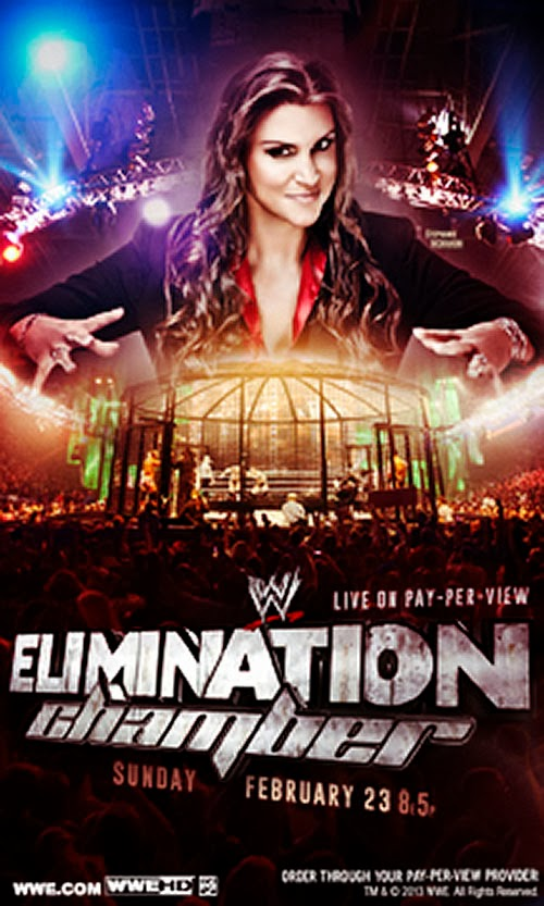Image » WWE Elimination Chamber 2014 Official Poster First Look (feat: Stephanie McMahon)