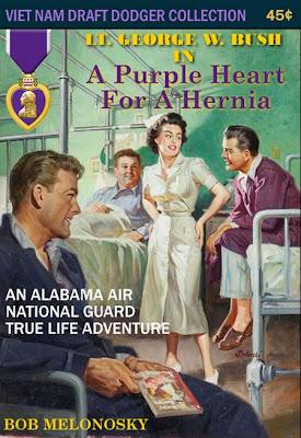 George W. Bush officer purple heart Bob Melonosky