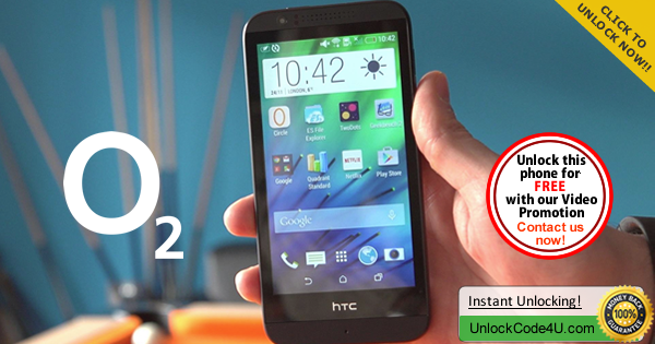 Factory Unlock Code HTC Desire 510 from O2