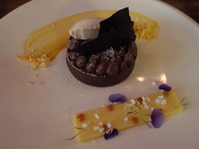 Passion Fruit & Chocolate Tart