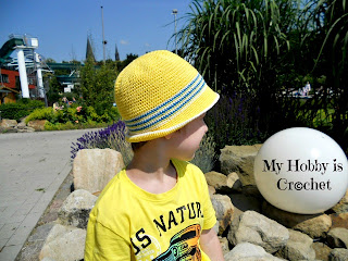 crochet sommer hat child 5-8 years-free pattern