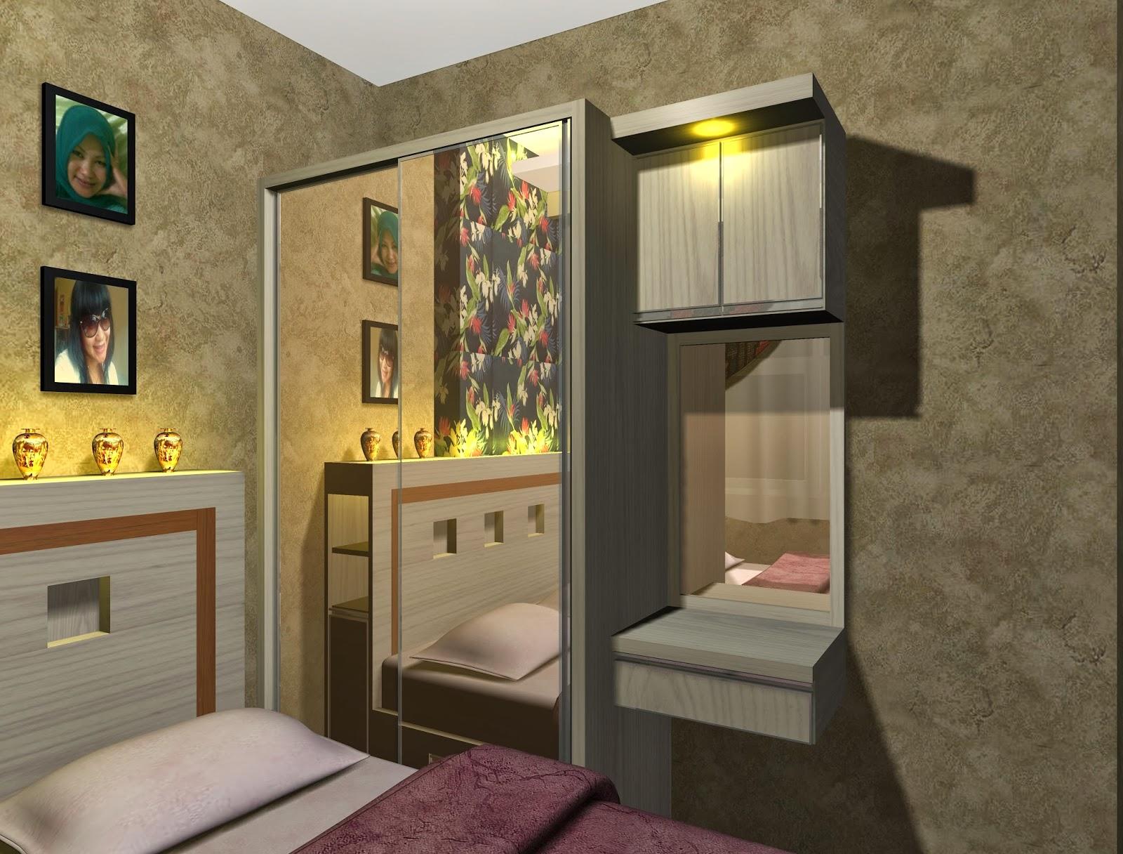 contoh desain project interior kamar apartemen menteng
