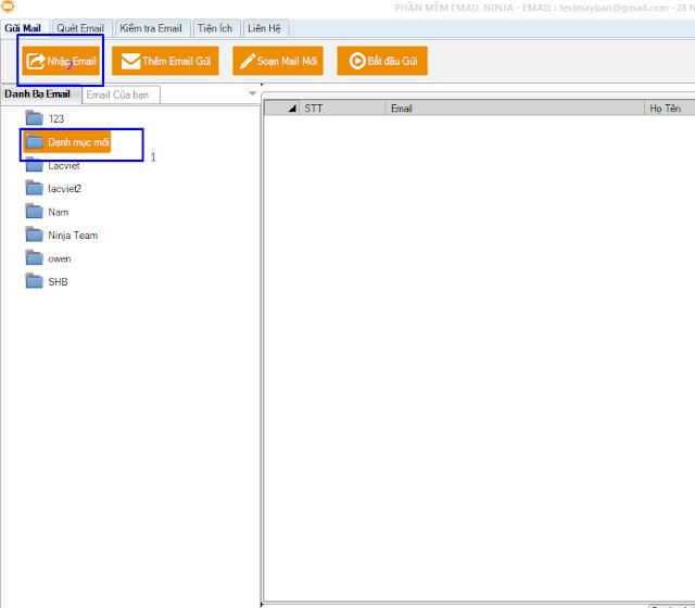 Email ninja2 Hướng dẫn sử dụng phần mềm Email Ninja   Gửi email miễn phí