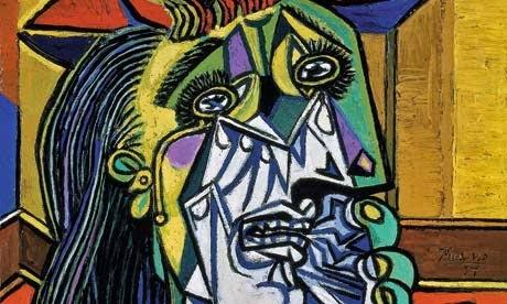 """cuadro de Picasso """"La mujer que llora"""""""