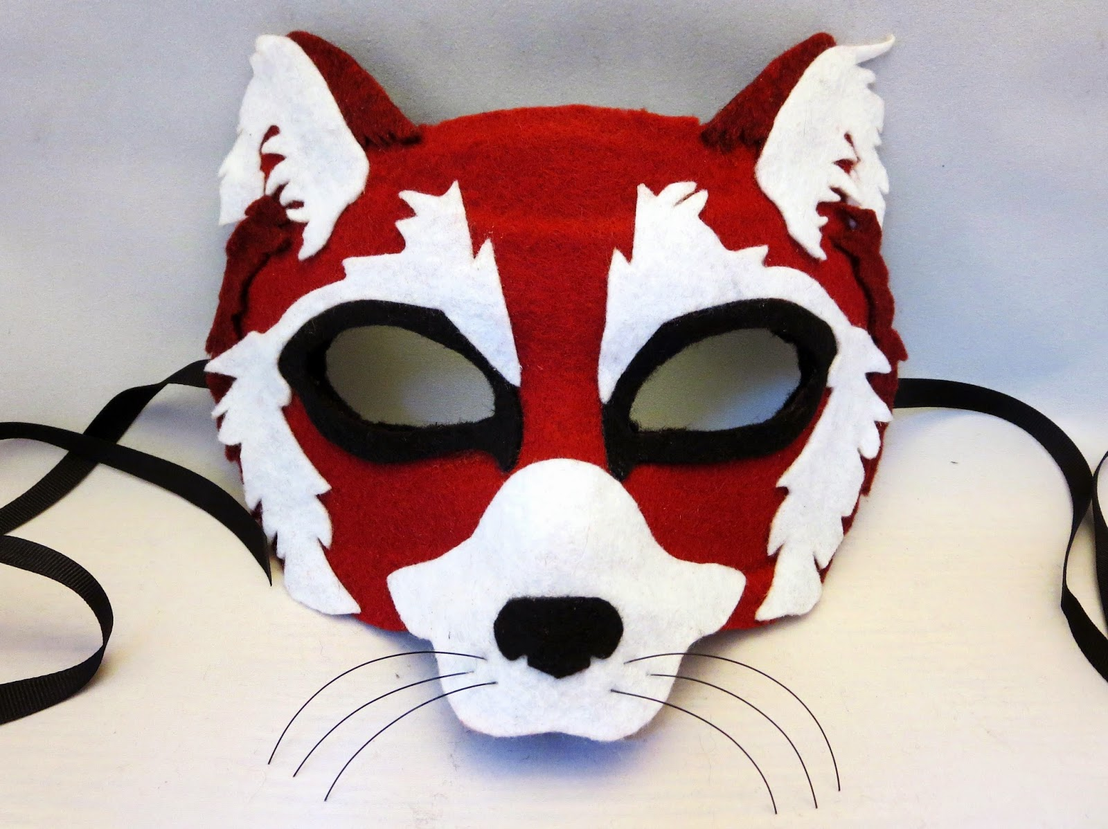 DIY Felt Red Panda Mask