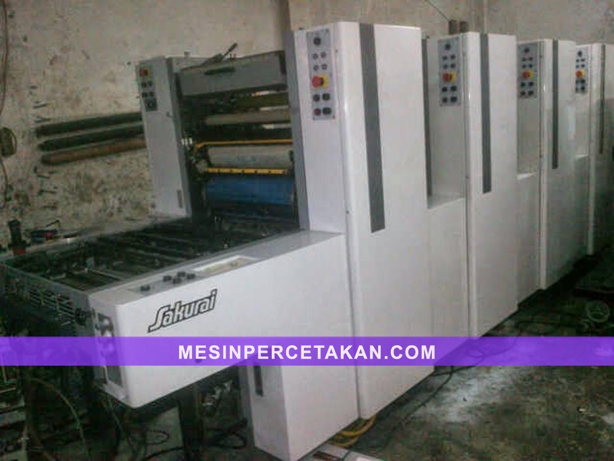 Oliver 458 mesin cetak 4 warna