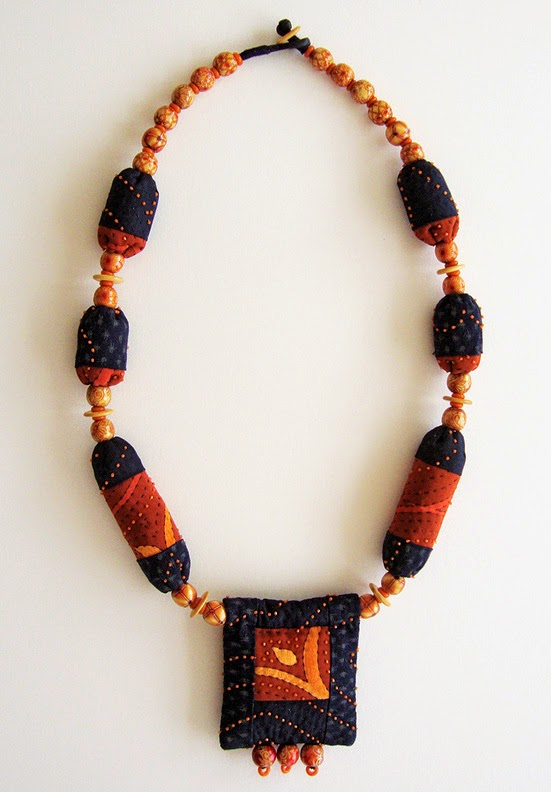 Robin Atkins bead quilt necklace