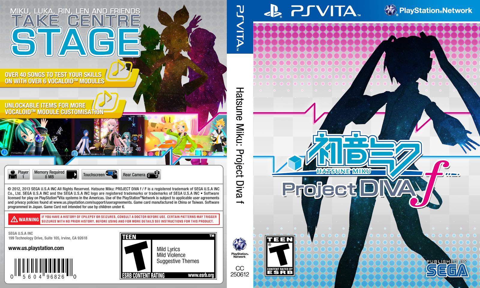 Capa Hatsune Miku Project Diva F PS Vita