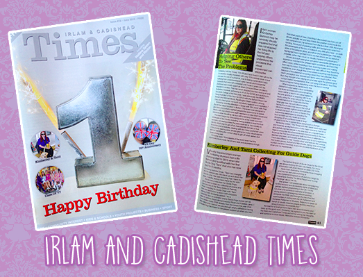 Header image incorporating the front cover of the latest issue of the Irlam & Cadishead Times and my articles