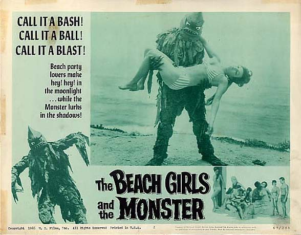 """The Beach Girls and the Monster"" lobby card."