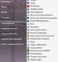 Zmodyfikowane menu start w systemie windows 7 - zrzut