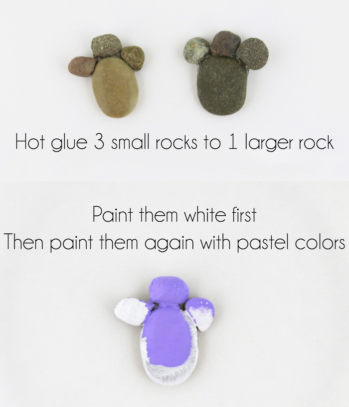 How to Make Sparkling Bunny Footprint Rocks