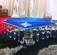 DIY 1: Bantal Hantaran (Royal Blue +Crystal Theme)