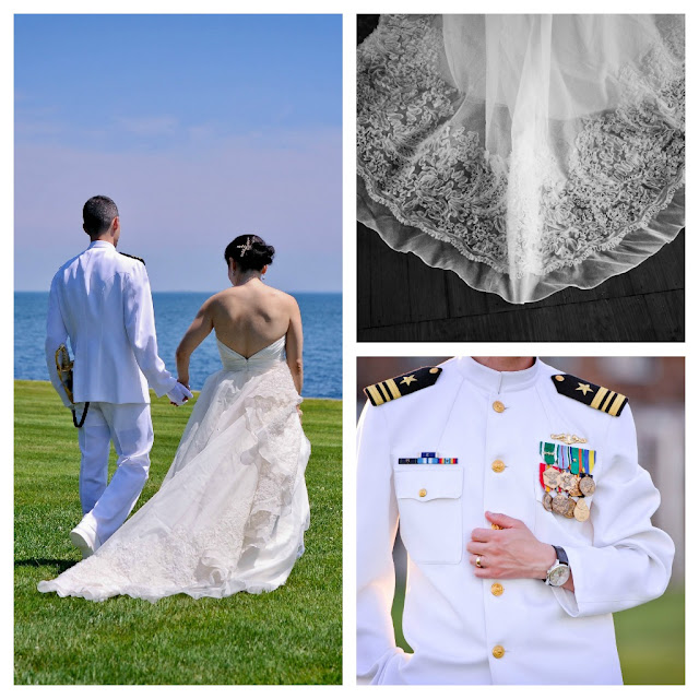 military wedding, New England Wedding, Jim Hjelm wedding dress, Kleinfeld's wedding dress