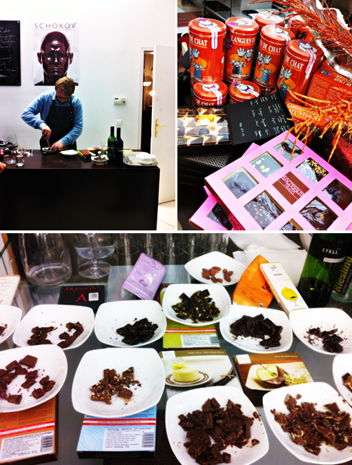Schokoladen-& Weinverkostung bei Schokov