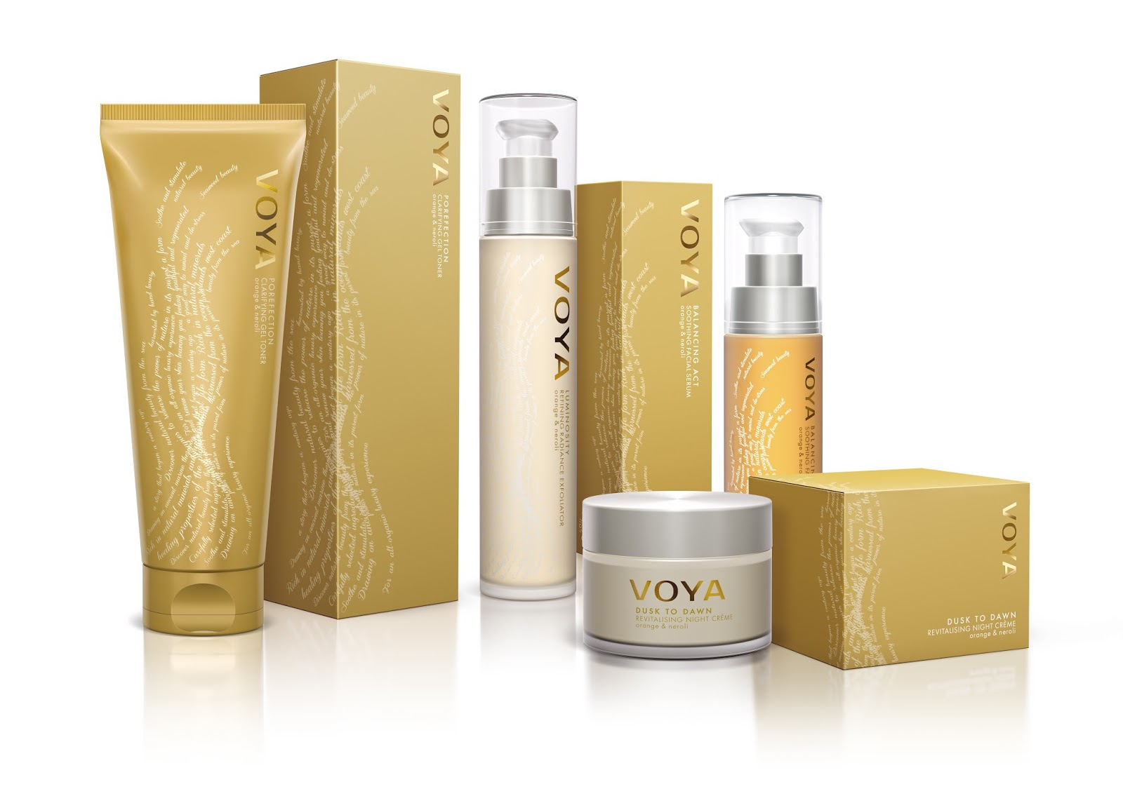 voya spa and skincare on packaging of the world creative
