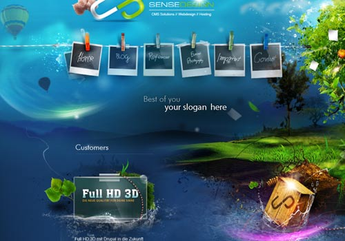 by updating your existing website with a cool website design for 2011