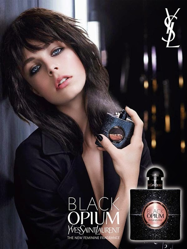 Edie Campbell, Black Opium, new fragrance from Yves Saint Laurent Beauté, Fashion and Cookies, fashion blogger