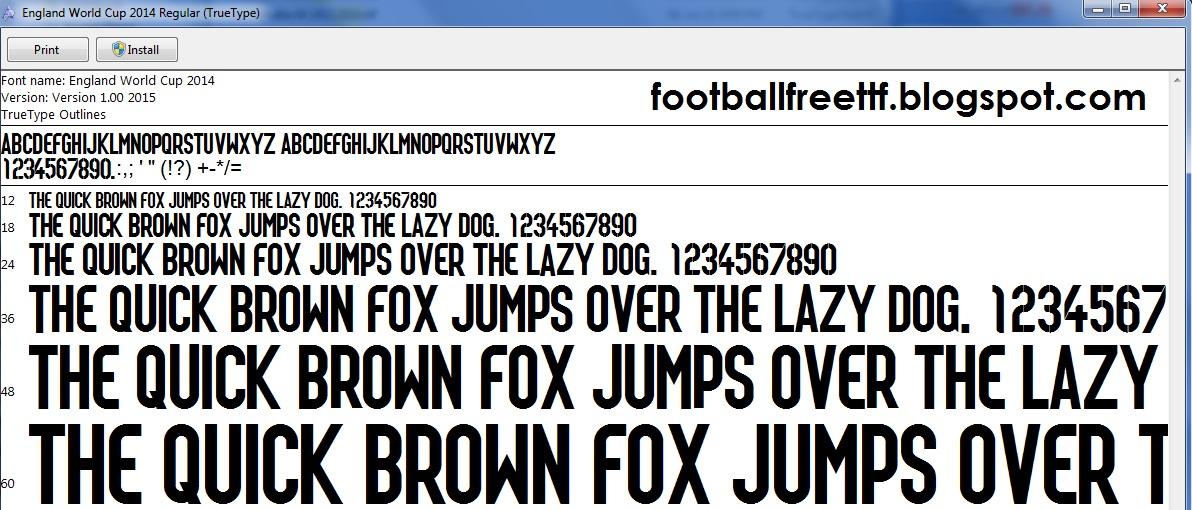 FOOTBALL TTF FREE DOWNLOAD: TTF England World Cup 2014 ...