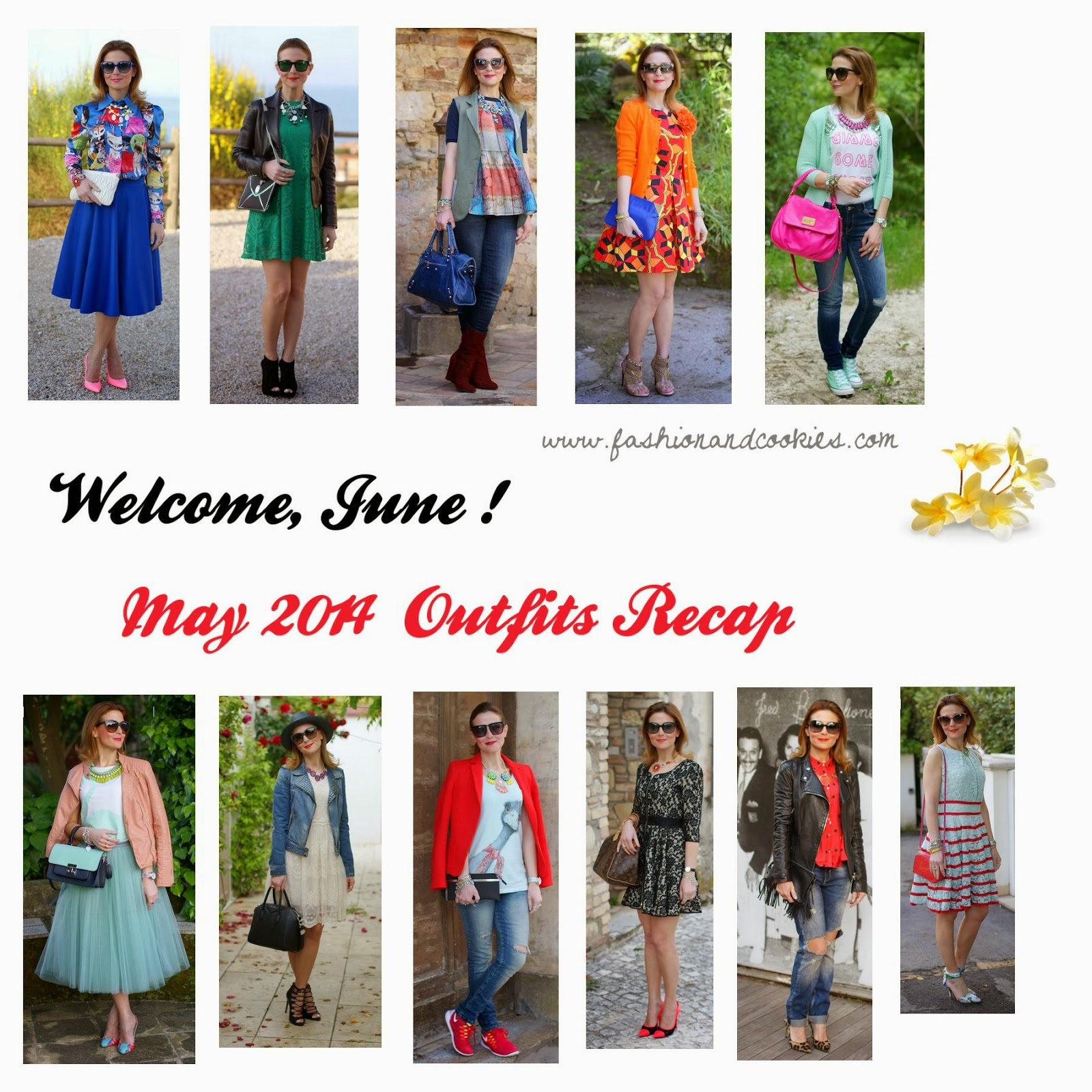 welcome june, may 2014 outfits recap, Fashion and Cookies, fashion blog
