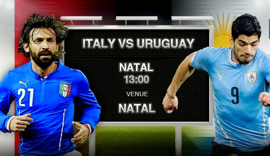 Italy vs Uruguay FIFA World Cup 2014 Live stream Broadcasting Live