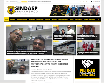 Acesse: http://www.sindasppe.org.br/