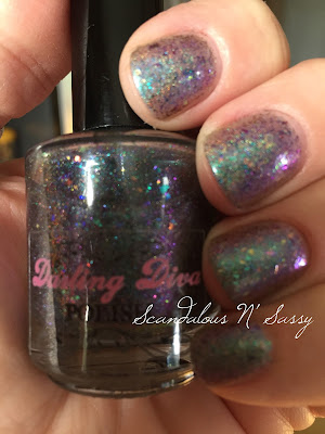 Darling Diva Polish Tie Dyed Ho-bag holo flakies exclusive