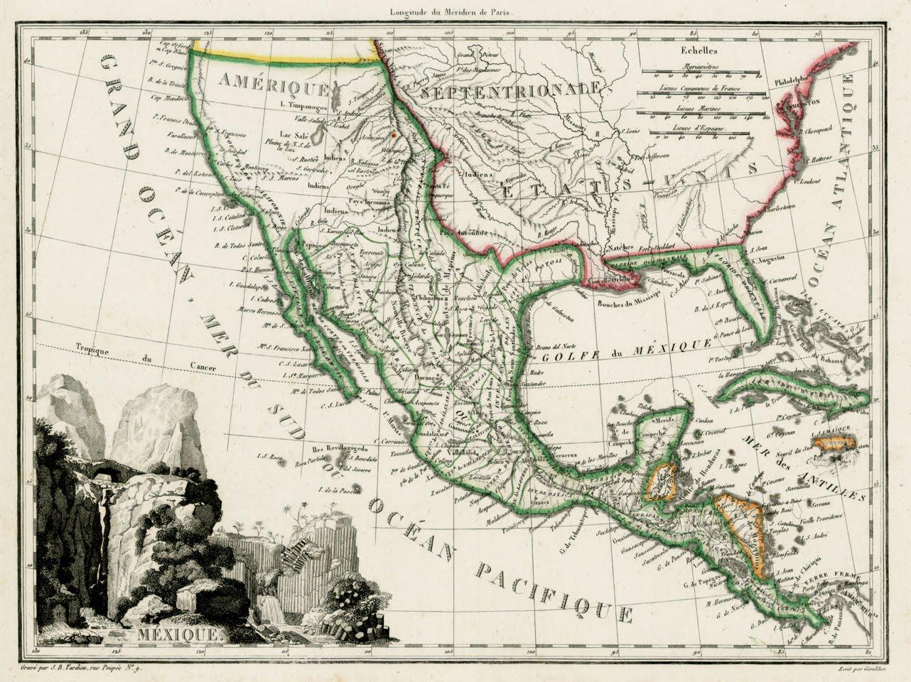 Antique Prints Blog April 2012 – Map of Mexico 1821