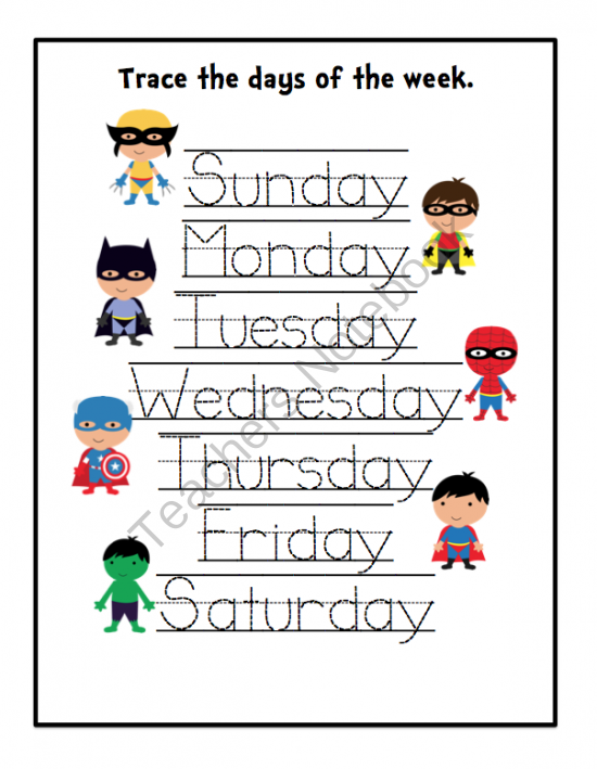 Super Hero's Printable Updated ~ Preschool Printables
