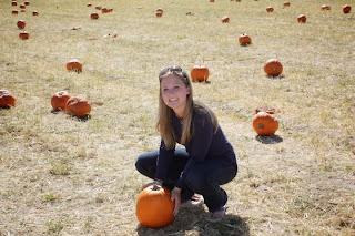 In a pumpkin patch in Colorado