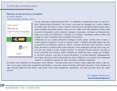 Manuale sopravvivenza energetica Ilsolea360gradi<br />ISES ITALIA International Solar Energy Society