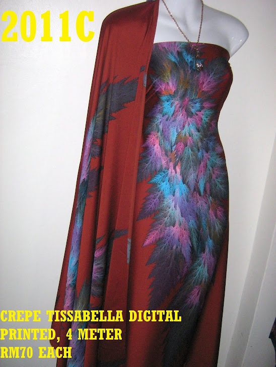 CTD 2011C: CREPE TISSABELLA DIGITAL PRINTED, EXCLUSIVE DESIGN, 4 METER
