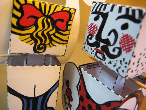 Cirque Papier de Brigitte Rio, Pablo et Lili