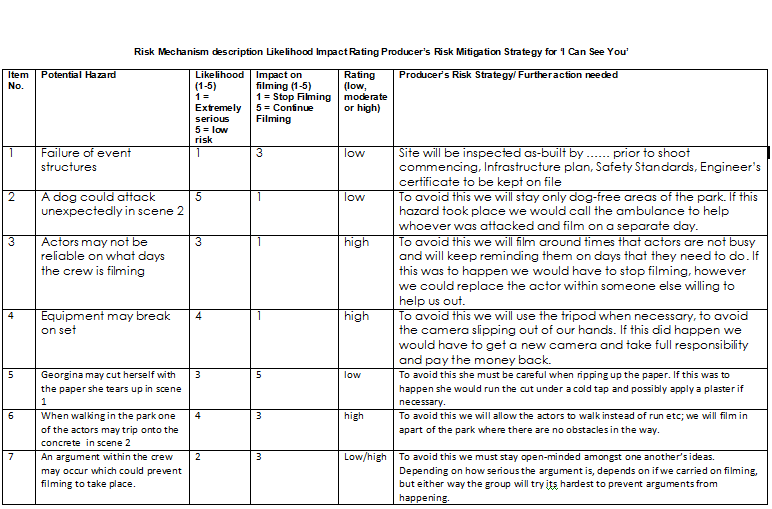 events sample risk analysis template – Sample Risk Assessment Form