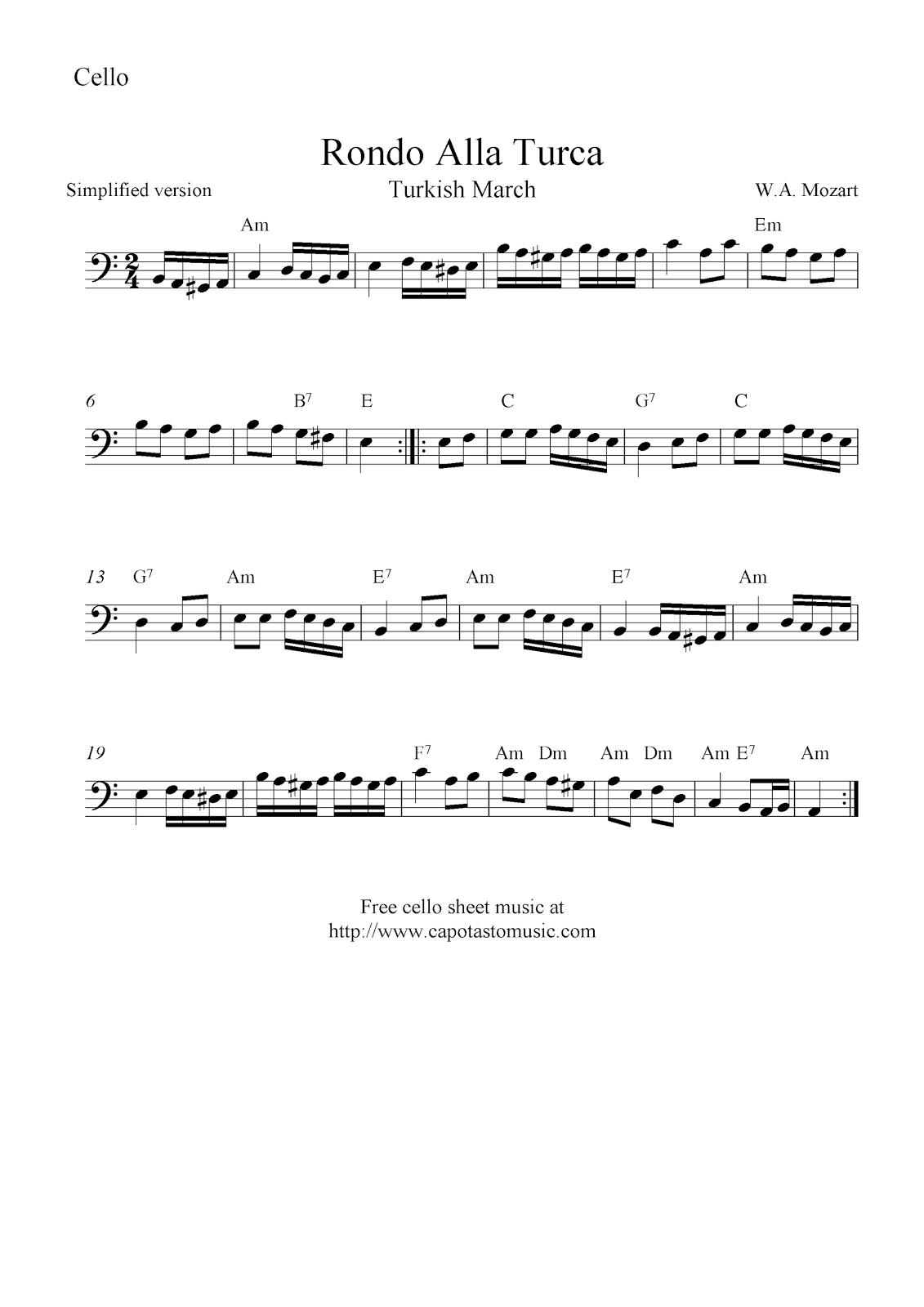 turkish march violin sheet music pdf