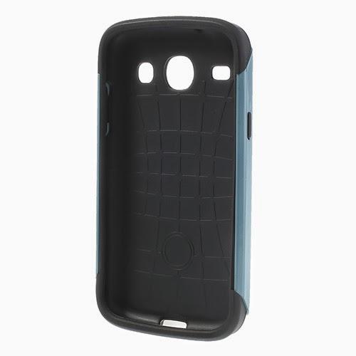 Slim Armor TPU & PC Hybrid Case for Samsung Galaxy Core I8260 I8262 - Blue