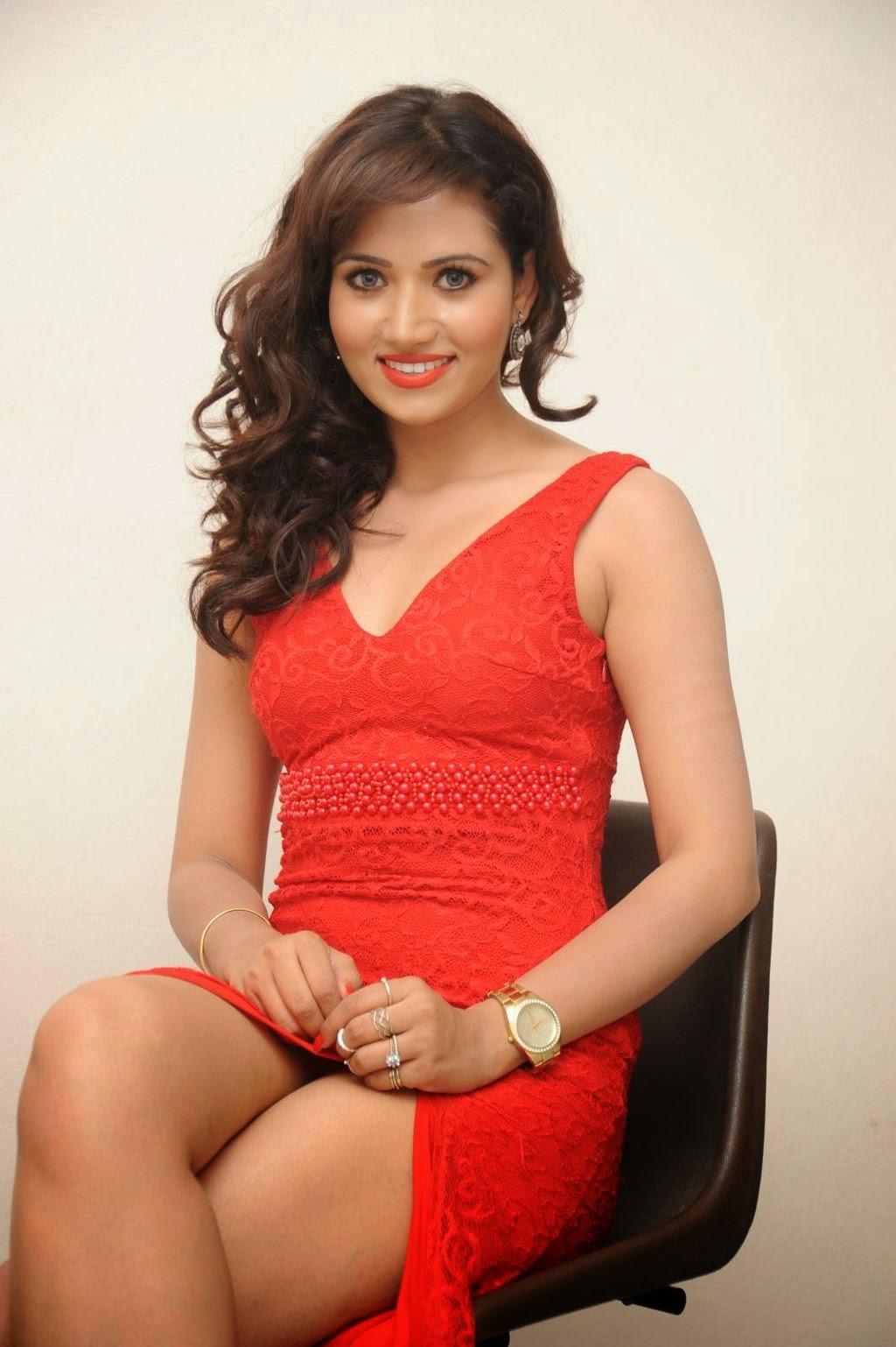 Preethi Rana latest glam pics in red-HQ-Photo-14
