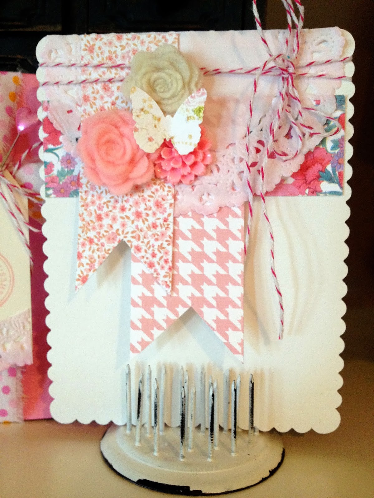 the curtsey boutique shabby chic birthday card and. Black Bedroom Furniture Sets. Home Design Ideas
