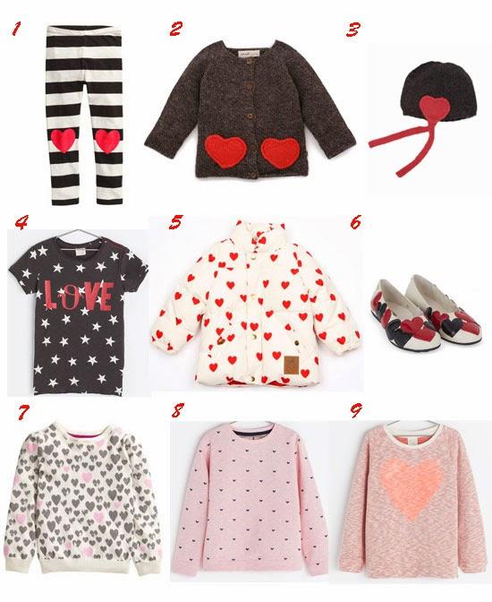Seleccion moda niña corazones especial San Valentin