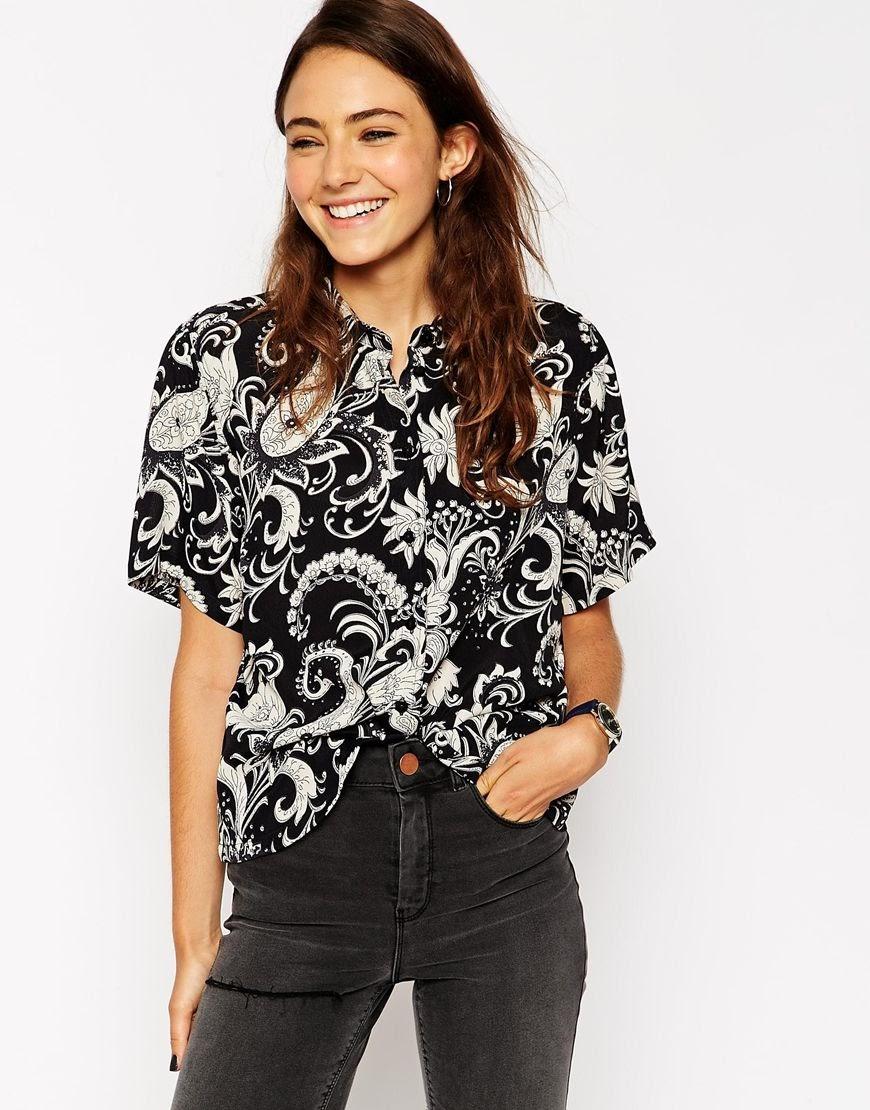black paisley blouse